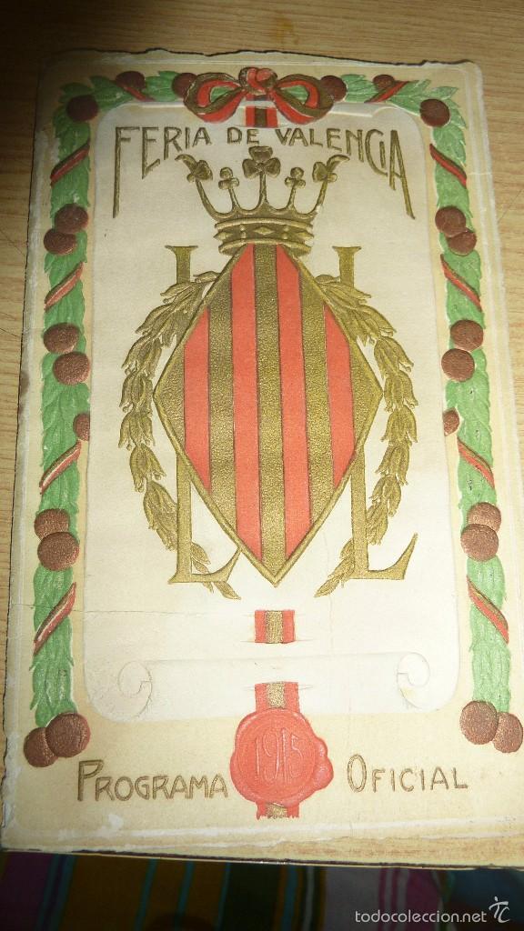 PROGRAMA OFICIAL AÑO 1915 . FERIA DE VALENCIA 16 PÁG 16 / 10 CM (Coleccionismo - Folletos de Turismo)