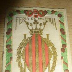 Folletos de turismo: PROGRAMA OFICIAL AÑO 1915 . FERIA DE VALENCIA 16 PÁG 16 / 10 CM. Lote 60084807