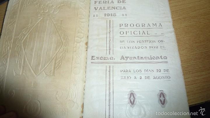 Folletos de turismo: programa oficial año 1915 . feria de valencia 16 pág 16 / 10 cm - Foto 2 - 60084807