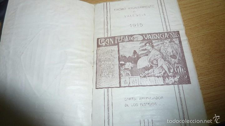 Folletos de turismo: programa oficial año 1915 . feria de valencia 16 pág 16 / 10 cm - Foto 3 - 60084807