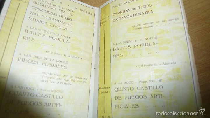 Folletos de turismo: programa oficial año 1915 . feria de valencia 16 pág 16 / 10 cm - Foto 4 - 60084807