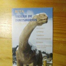 Folletos de turismo: FOLLETO RUTA TIERRA DE DINOSAURIOS BURGOS. Lote 60124843