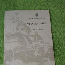 Folletos de turismo: MEMORIA ANUAL - EJERCICIO 1965-66 ---- JUNTA CENTRAL FALLERA - FALLAS DE VALENCIA. Lote 60327743