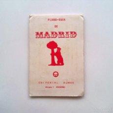 Folletos de turismo: PLANO-GUIA DE MADRID EDITORIAL ALMAX 1970, CALLEJERO AUTOBUSES TRANVIAS MICROBUSES METRO MAPA. Lote 60521447
