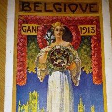 Folletos de turismo: BONITO FOLLETO CATALOGO EXPOSICION UNIVERSAL BELGICA , GAND . AÑO 1913 DESPLEGABLE BUEN ESTADO . Lote 60733023