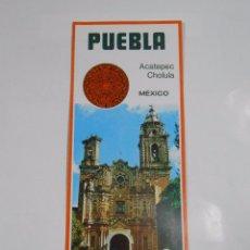 Folletos de turismo: FOLLETO TURISTICO DE PUEBLA. ACATEPEC. CHOLUCA. MEXICO. AÑOS 70. TDKP7. Lote 60932495