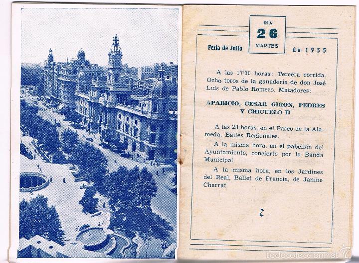 Folletos de turismo: PROGRAMA OFICIAL GRAN FERIA DE VALENCIA. JULIO 1955 - Foto 2 - 61183003