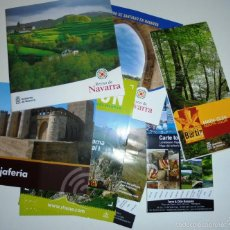 Folletos de turismo: LOTE FOLLETOS TURISTICOS NAVARRA, LARRUN, MAPA PARQUE BERTRIZ,…. Lote 61353119