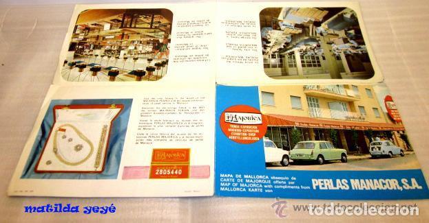 FOLLETO MAJORICA PERLAS MANACOR CON MAPA MALLORCA. AÑOS 60 - 70 (Coleccionismo - Folletos de Turismo)