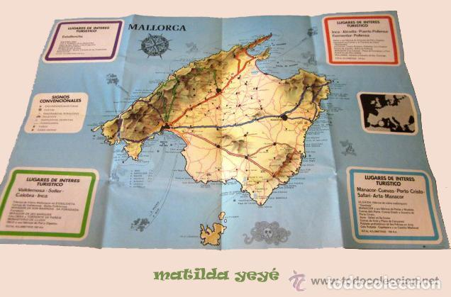Folletos de turismo: Folleto Majorica Perlas Manacor con mapa Mallorca. Años 60 - 70 - Foto 3 - 61395983