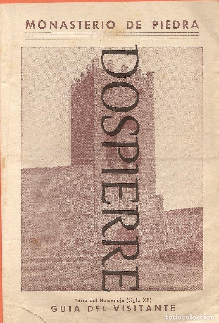 PEQUEÑO FOLLETO, MONASTERIO DE PIEDRA, GUÍA DEL VISITANTE (Coleccionismo - Folletos de Turismo)