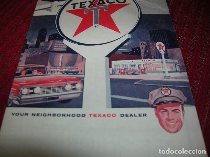 Folletos de turismo: Antiguo mapa de Chicago,anuncia Texaco - Foto 2 - 61922008