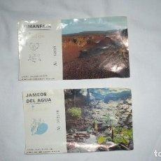 Folletos de turismo: DOS TICKETS DE CANARIAS. Lote 62216648