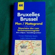 Folletos de turismo: GUIA Y PLANO DE BRUSELAS (BELGICA) - MICHELIN. Lote 62295576