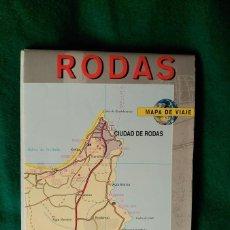 Folletos de turismo: PLANO Y MAPA DE VIAJE DE LA CIUDAD Y LA ISLA DE RODAS (GRECIA). Lote 62299848