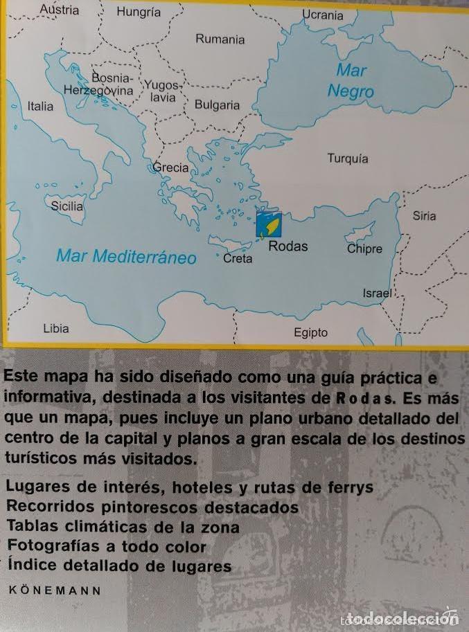 plano y mapa de viaje de la ciudad y la isla de  Comprar Folletos