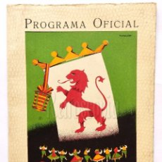 Folletos de turismo: PROGRAMA OFICIAL FIESTAS Y FERIAS SAN JUAN Y SAN PEDRO DE LEÓN AÑO 1951. Lote 62673860