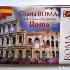 Folletos de turismo: CHARTA ROMA - MAPA OFICIAL DE LA CIUDAD DE ROMA EN ESPAÑOL. Lote 63150732