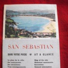 Folletos de turismo: GUIA TURISTICA CON MAPA DE SAN SEBASTIAN . Lote 63317768