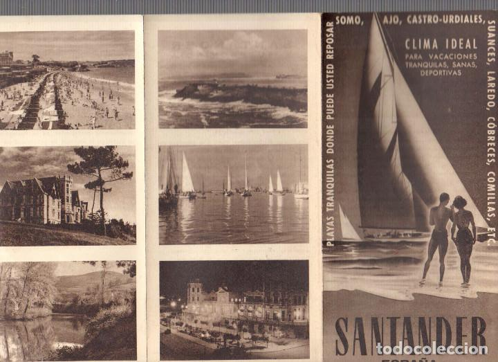 FOLLETO TURISMO PROVINCIA SANTANDER. SOMO, AJO, CASTRO-URDIALES. AÑOS 40 (Coleccionismo - Folletos de Turismo)