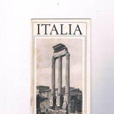Folletos de turismo: FOLLETO DE TURISMO ITALIA ANTIGUO. Lote 64379567