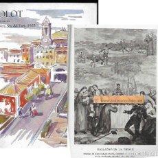 Folletos de turismo: OLOT - FIESTAS NTRA. SRA. DEL TURA 1955. Lote 64473779