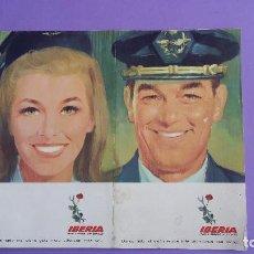 Folletos de turismo: DIFICIL FOLLETO IBERIA 1967. . Lote 64612491