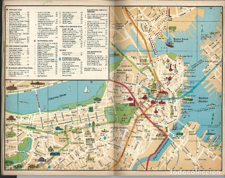 Folletos de turismo: BOSTON COMPLETE GUIDE AND BEYON (ALRREDEDORES).USA. GUIA CON MAPAS INFORMACION PUBLICIDAD 1987 - Foto 4 - 64733467