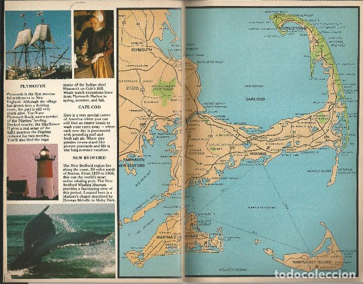 Folletos de turismo: BOSTON COMPLETE GUIDE AND BEYON (ALRREDEDORES).USA. GUIA CON MAPAS INFORMACION PUBLICIDAD 1987 - Foto 5 - 64733467