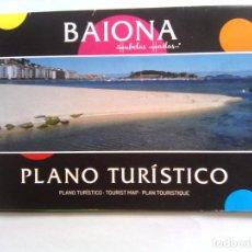 Folletos de turismo: PLANO TURISTICO DE BAIONA - BAYONA EN PONTEVEDRA. Lote 64937267