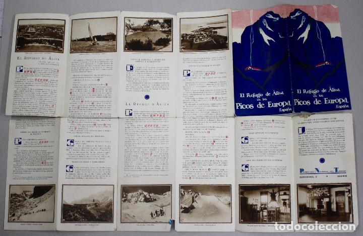 FOLLETO PUBLICITARIO EL REFUGIO DE ÁLIVA. PICOS DE EUROPA. AÑOS 40 (Coleccionismo - Folletos de Turismo)