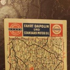 Folletos de turismo: MAPA PUBLICITARIO DE ACEITE MOTOR DEL AÑO 1936 DAPOLIN. Lote 66467878