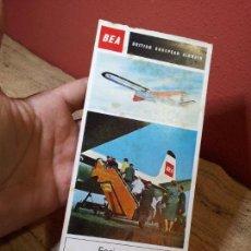 Folletos de turismo: FOLLETO TRIPTICO PUBLICITARIO DE COMPAÑIA DE AVIONES- BEA - 1964 AEROLINEAS AEREAS. Lote 66853198