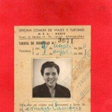 Foglietti di turismo: CARNET FERROCARRIL M.Z.A. 1940. OFICINA VIAJES Y TURISMO. Lote 67017482