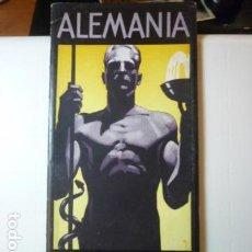 Folletos de turismo: FOLLETO DE TURISMO ALEMANIA FUENTE DE SALUD. JUEGOS OLÍMPICOS 1936.. Lote 67175113