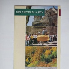 Folletos de turismo: FOLLETO DESPLEGABLE - MAPA TURISTICO DE LA RIOJA. Lote 67571009