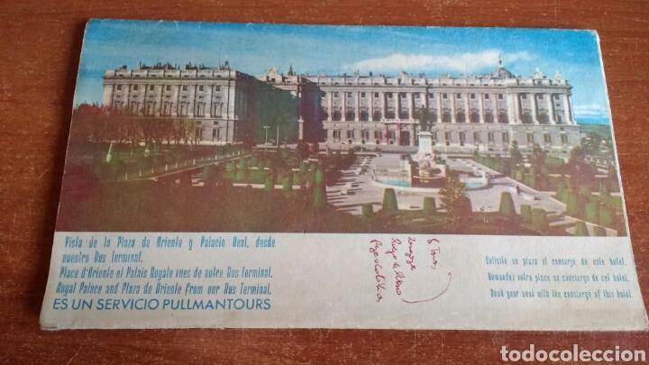 ANTIGUO FOLLETO TURISTICO PULLMANTOURS - EXCURSIONES MADRID - 1960 (Coleccionismo - Folletos de Turismo)