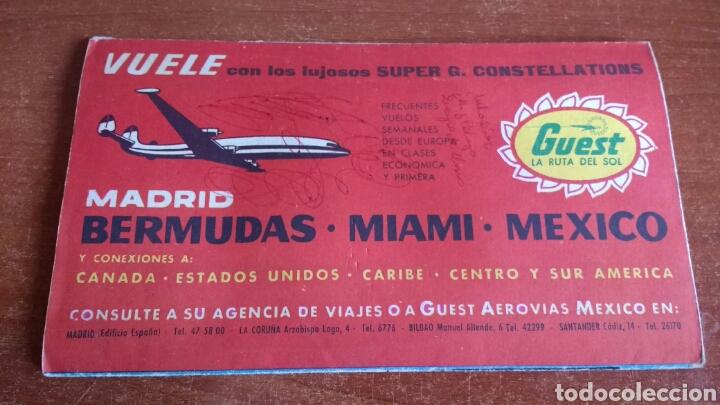 Folletos de turismo: ANTIGUO FOLLETO TURISTICO PULLMANTOURS - EXCURSIONES MADRID - 1960 - Foto 2 - 67588726