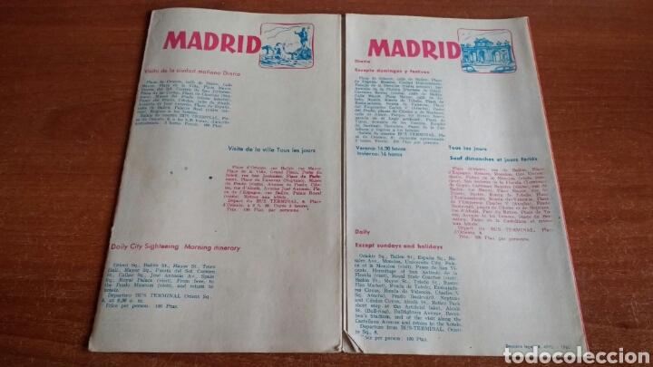 Folletos de turismo: ANTIGUO FOLLETO TURISTICO PULLMANTOURS - EXCURSIONES MADRID - 1960 - Foto 3 - 67588726