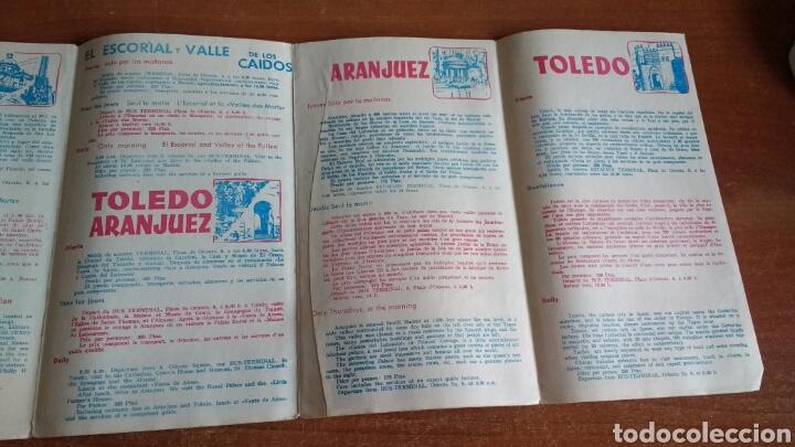 Folletos de turismo: ANTIGUO FOLLETO TURISTICO PULLMANTOURS - EXCURSIONES MADRID - 1960 - Foto 4 - 67588726