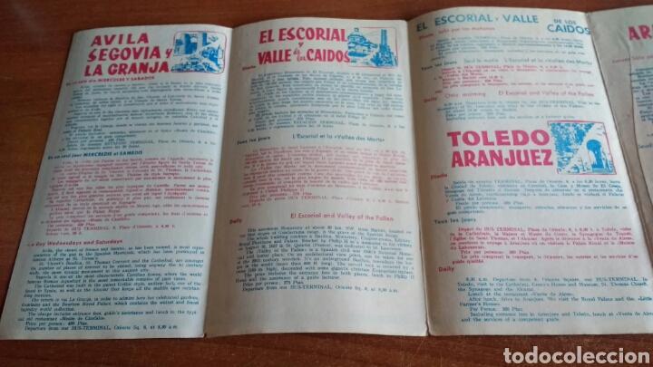 Folletos de turismo: ANTIGUO FOLLETO TURISTICO PULLMANTOURS - EXCURSIONES MADRID - 1960 - Foto 5 - 67588726