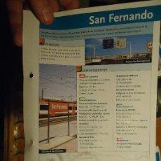 Folletos de turismo: FICHA TURISMO COLECCIONABLE - DIPUTACION DE CADIZ , CEPSA , AUMAR - SAN FERNANDO CAMARON DE LA ISLA. Lote 67619969
