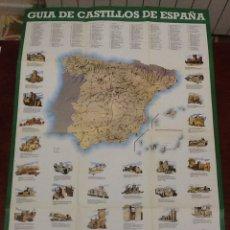 Folletos de turismo: GUÍA DE CASTILLOS DE ESPAÑA.GUIAS Y MAPAS TURÍSTICOS DISTEIN AÑO 1976. Lote 67961129