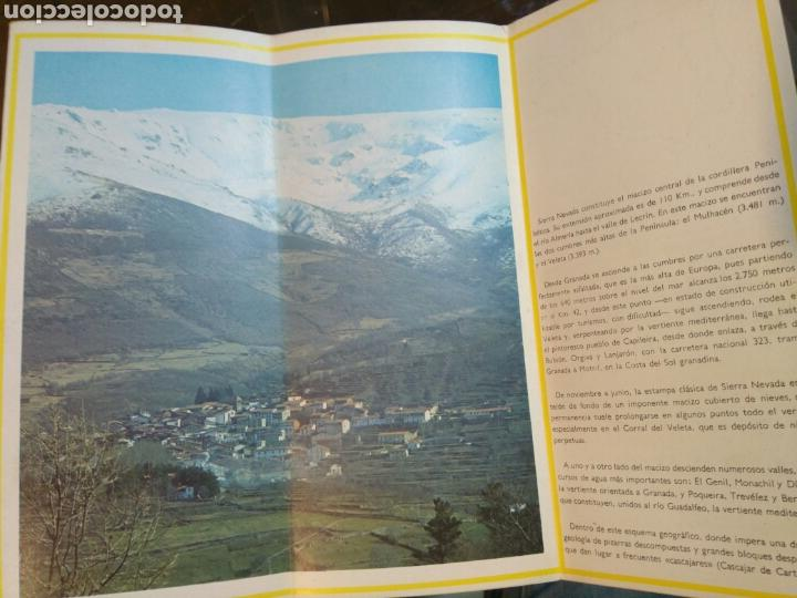 Folletos de turismo: Folleto Sierra Nevada. Desplegable. Años 70. Granada. Ministerio Información y Turismo. Con mapa - Foto 2 - 68715897