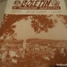 Folletos de turismo: BOLETIN DE INFORMACION MUNICIPALSAN FELIU DE CODINAS 1958. Lote 68787681