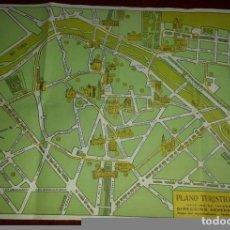 Folletos de turismo: ANTIGUO PLANO TURISTICO DE VALENCIA. AÑOS 60. EDITADO POR LA OFICINA DE LA D.G.T(42X32). Lote 69304817