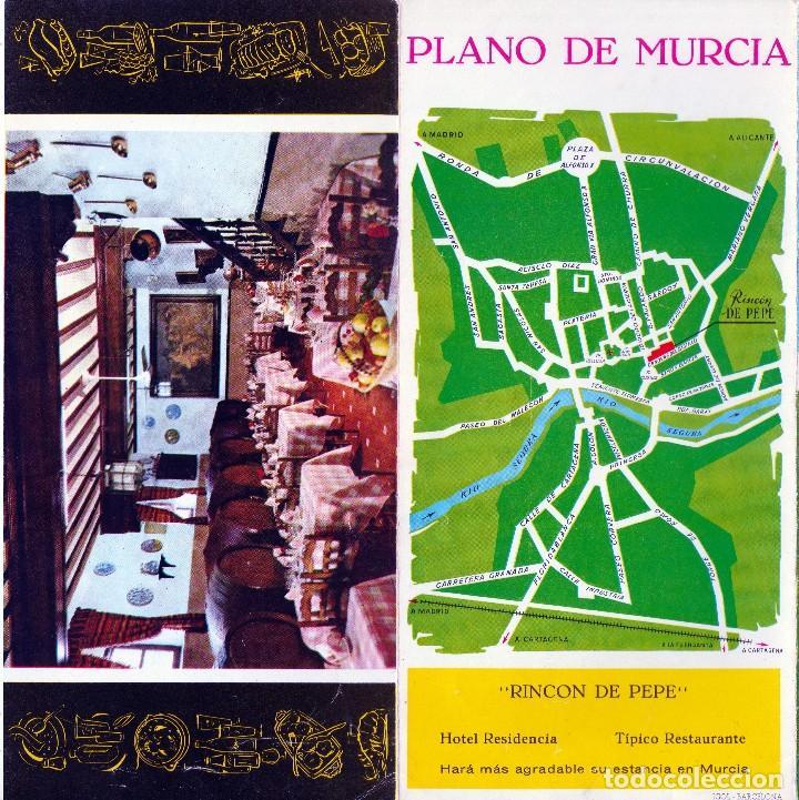 Folletos de turismo: 1963. MURCIA . FOLLETO PUBLICITARIO DEL HOTEL RESIDENCIA - RINCON DE PEPE -(4 FOTOS) - Foto 4 - 69360521