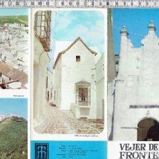 Folletos de turismo: FOLLETO TURISTICO VEJER DE LA FRONTERA CADIZ-1969.. Lote 69805581