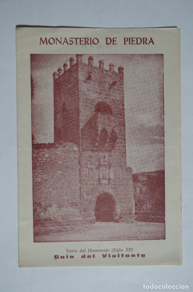 DIPTICO MONASTERIO DE PIEDRA - GUIA DEL VISITANTE (Coleccionismo - Folletos de Turismo)