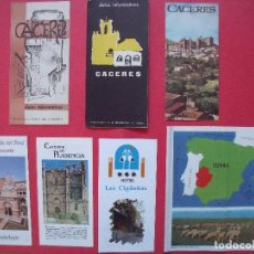 Folletos de turismo: CACERES.-GUIAS TURISTICAS.-FOLLETOS.-LOTE DE 15 GUIAS Y FOLLETOS TURISTICOS.. Lote 69866149